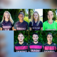 Headshots of the featured soccer players