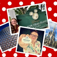 Miranda Seguin, Carley Kelley and photos of Disney in a collage format