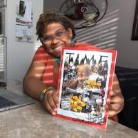 Lavett Ballard holding her TIME magazine cover
