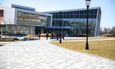 students walking toward back of Student Success Center