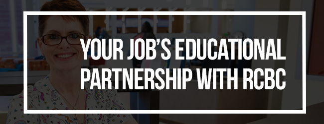 Your job's educational partnership with RCBC (educational partnership)