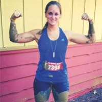 Becky Scott after the race